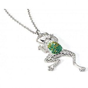 Just Cavalli green frog pendant necklace